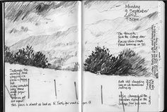 Moleskine Sedburgh Trip: The Howgills by skyeshell on Flickr
