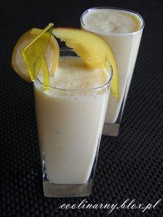 Koktajl z mango Mango, Glass Of Milk, Smoothies, Pudding, Drinks, Desserts, Food, Manga, Drinking