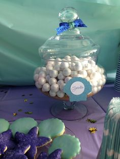 Mermaid Under the Sea Candy Buffet Open House Birthday Party Sweethearts  Co. Lapper Michigan Pearl Gumballs