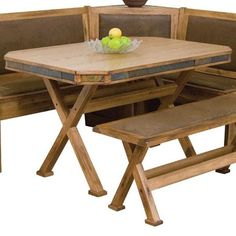 Morris Home Furnishings Morris Home Furnishings Dining Table with Slate Edge