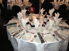 Close up of a table setting for our last Christmas Party for 2012    #winterwonderland
