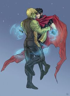Hulkling (Teddy Altman) x Wiccan (Billy Kaplan) from Young Avengers ©Marvel