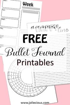 Free bullet journal printables collection: Weekly spread, Habit tracker, Gratitude log,... Free Bullet Journal Printables, Journal Pages Printable, Journal Template, Printable Planner, Bullet Journal Tracker, Bullet Journal Spread, Bullet Journal Layout, Bullet Journal Inspiration, Journal Ideas