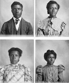 Four portrait photos taken by Hugh Mangum. The photographer who rejected racism in the American south