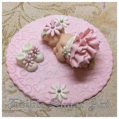 BABY SHOWER CAKE TOPPER Vintage Baby Shower Princess baby fondant cake topper