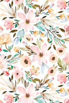 Watercolor floral design by indybloomdesign watercolor flower background, watercolor floral wallpaper Watercolor Wallpaper, Watercolor Flowers, Watercolor Art, Painting Flowers, Floral Watercolor Background, Watercolor Pattern, Green Watercolor, Drawing Flowers, Flower Design Drawing