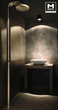 Badkamer @ Showroom Moliti interieurmakers. #concrete #Betonstuc #Jee-O
