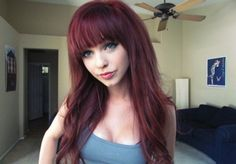 Long Hair With Straight Across Bangs - Yahoo Image Search Results
