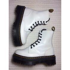 Dr. Martens Shoes - Dr. Martens Jadon Platform White Boots