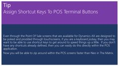 Assign Shortcut Keys To POS Terminal Buttons
