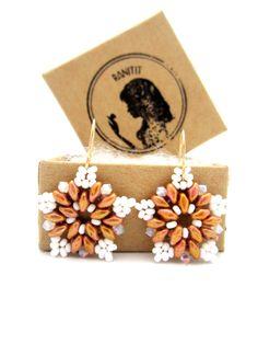 Beaded Earrings / Swarovski Earrings / Beaded Jewelry / by Ranitit
