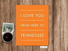 I Love You From Here To TENNESSEE art print