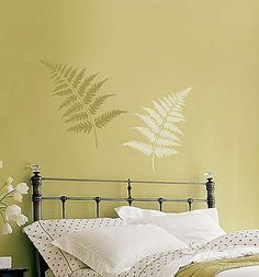 Cutting Edge Stencils - Large Fern Leaves Stencil kit 2pc