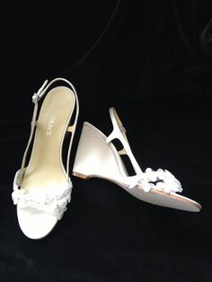 Custom Lace Wedge Wedding Shoes  Brooke by by YvesBellaBrides, $160.00
