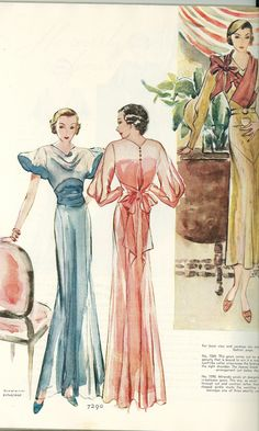 McCall 7290 Evening Gown after Mirande and McCall 7269 in 1933