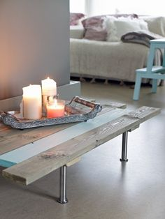DIY - coffee table. instructions in Norwegian...use google translate!