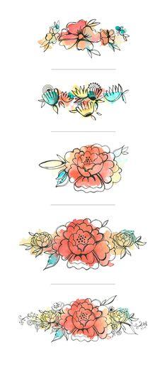 Designing a watercolor logo