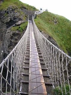 Northern Ireland swinging bridge to Carrick Island