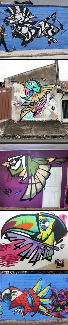 Últimas pinturas na rua e alguns trabalhos