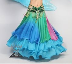 Loving this bright flowy skirt (sans belly dancing belt - but maybe with one of their coin belts)
