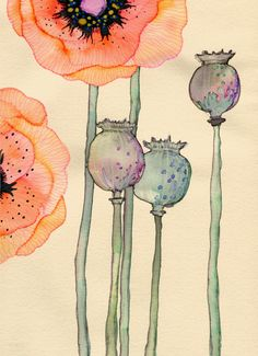 Inks & Watercolors, by Colleen Parker