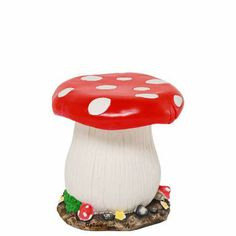 A fairytale for your child's room. Kids will love sitting on the cheerful FAIRYTALE toadstool stool. It's great for painting an enchanted magical forest or for making a little cottage for elves. Suitable for outdoor use. Matching table available.