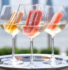 Sauvignon Blanc wine soaked Popsicles!