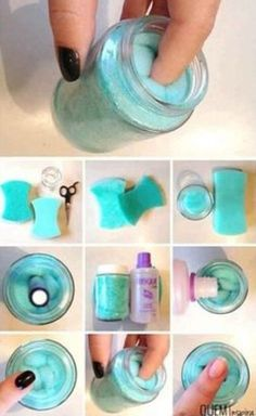 Tutorial on how to make your own nail polish remover kit.... I need to do this