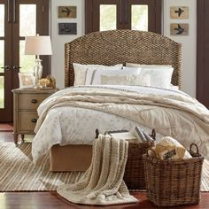 Claudette Duvet Set | A pattern of flowers and birds in a light taupe color gives the Claudette Set a neutral look while still offering a design that complements the look of cottage- and botanical-inspired bedrooms.