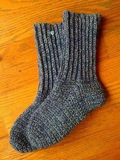 Easy Crochet Patterns Crocheted Socks By Sue Norrad - Free Crochet Pattern - (ravelry) - Crochet Sock Pattern Free, Crochet Men, Crochet Boots, Easy Crochet Patterns, Crochet Clothes, Crochet Baby, Free Crochet, Knitting Patterns, Free Pattern