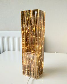 Willow and resin light sculpture Etsy - Lampen - The Epoxy Epoxy Resin Wood, Resin Art, Resin Sculpture, Resin Furniture, Diy Resin Crafts, Resin Table, Can Lights, Wood Lamps, Led Lampe