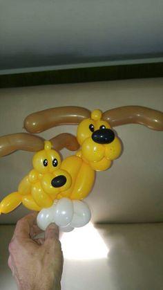 Welpe und Mutter Ballonfiguren