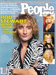 photo | Hook Ups, 1970, 70s Music, Fascinating Love Lives, Musical Hitmakers, Rock Stars, Rod Stewart Cover, Alana Stewart, Britt Ekland, Rod Stewart