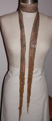 Beautiful Snake Skin Pattern Seed Beads Scarf Belt Lariat