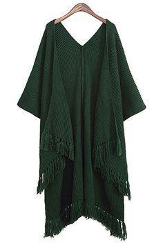 Tassels High Low Long Sleeve Cardigan
