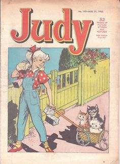 """Judy"", D.C. Thomson, 1962-65, the girls'comic, 65 issues"
