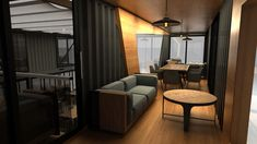 Next Container // Lokma on Behance Building A Container Home, Container Buildings, Container Architecture, Container House Plans, Container House Design, Small House Design, Modern House Design, Container Cafe, Container Conversions