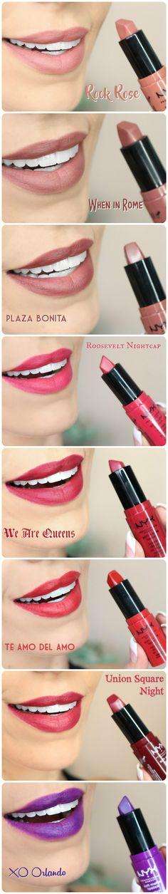NYX Soft Matte Lipsticks (ALL 24 Shades) | Review & S