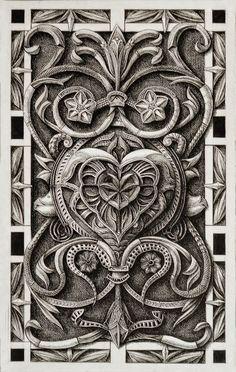 Dibujos texturizados; por Alex Konahin
