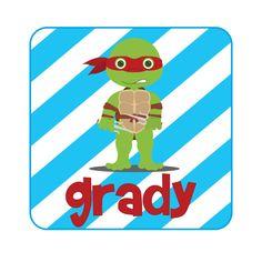 Personalized Boys Ninja Turtle Shirt on Etsy, $17.00