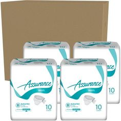 Assurance Maximum Absorbency Bariatric Briefs, 10 count, (Pack of 4)
