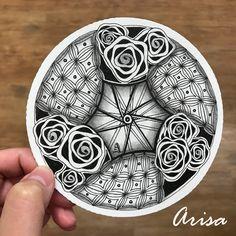 玫瑰花的祝福 #zentangle #zendala #禪繞 #DivaDance #Spoken #Bales