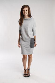 sukienka grey pocket