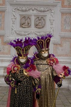 Venice carnival love the rich purple, pink and gold colours.