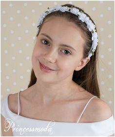 (044) Traumhafter Haarreifen für Ihre Prinzessin! - Princessmoda - Alles für Taufe Kommunion und festliche Anlässe