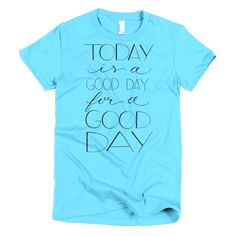 Good Day for a Good Day (Black Print) – Boutique Tee (Form-Fitting) | Salty Sunbeam