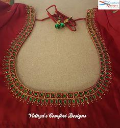 Login - Bridal Blouse Designs done at Vidhya's Comfort Designs, Besant Nagar, Chennai Contact – 900302 - Cutwork Blouse Designs, Wedding Saree Blouse Designs, Pattu Saree Blouse Designs, Simple Blouse Designs, Embroidery Neck Designs, Stylish Blouse Design, Blouse Neck Designs, Embroidery Stitches, Sari Blouse