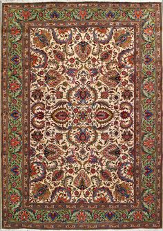 Tabriz Persian Rug, Hand Knotted, wool, 10yrs - Iran