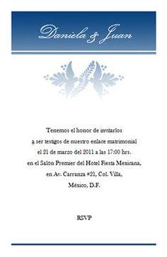 Invitaciones de boda GRATIS para imprimir : Invitación de boda modelo 006