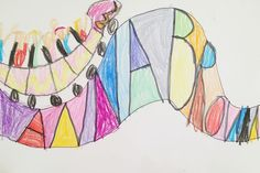 Roller Coaster Names - a quick & easy art project for the kids